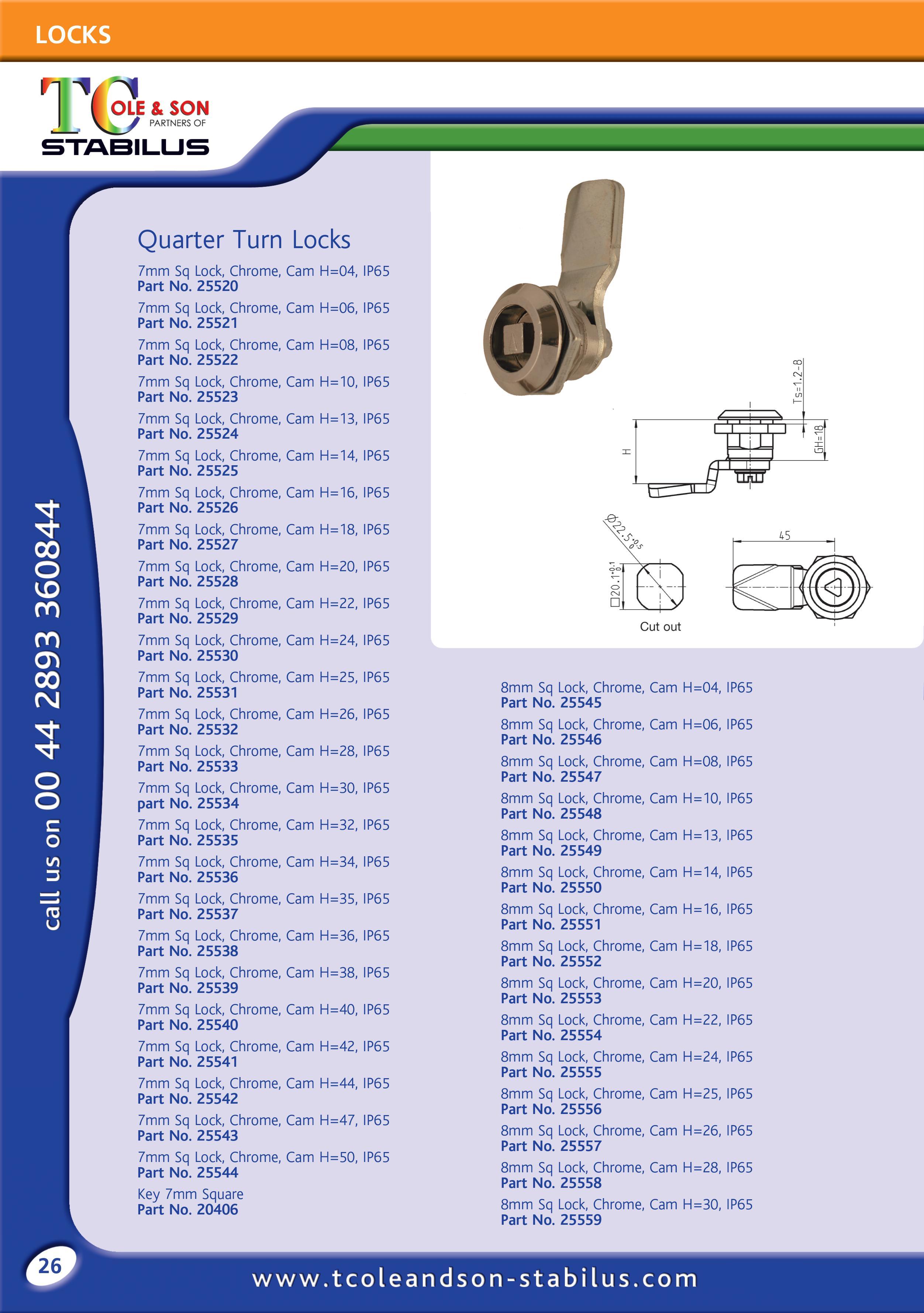 Locks Handles Hinges Catalogue Gas Springs Struts T